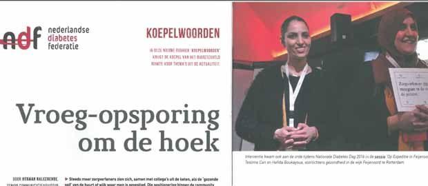 Vroeg-opsporing om de hoek – Nederlandse Diabetes Federatie
