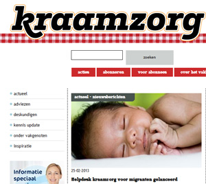 In de media Vakblad Kraamzorg
